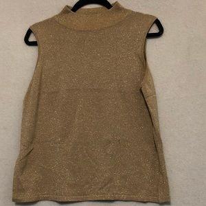 Holiday golden sleeveless shirt